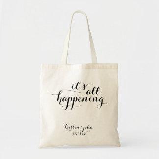 Es todas las bolsas de asas de suceso del boda de