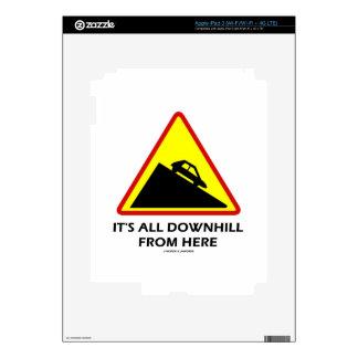 Es todo cuesta abajo de aquí (el humor de la señal iPad 3 skin