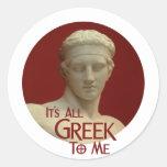 Es todo el Griego a mí Etiquetas Redondas