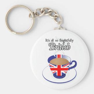 Es todo tan espantosamente Británicos Llavero Redondo Tipo Pin