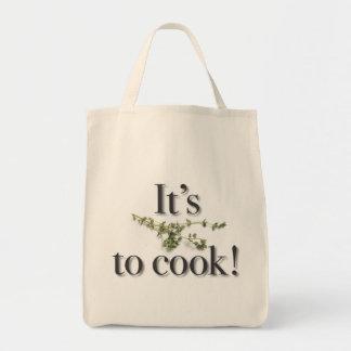 """""""Es tomillo a cocinar!"""" tote del ultramarinos Bolsa Lienzo"""