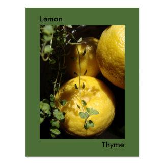 Es tomillo del limón postal
