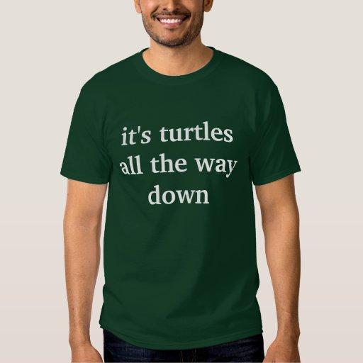 es tortugas hasta el final abajo playeras