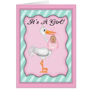 Es un bebé del afroamericano del chica tarjeta de felicitación