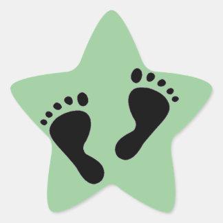 Es un bebé - pies del bebé pegatina en forma de estrella