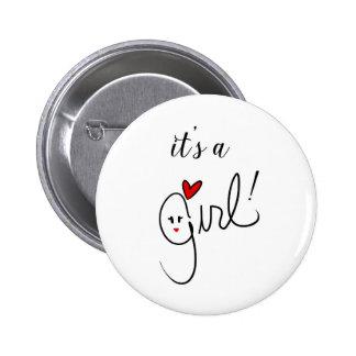 Es un botón del chica