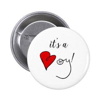 Es un botón del muchacho