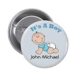 Es un botón del muchacho pin