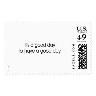 Es un buen día para tener un buen día sellos