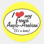 ¡Es un caballo! Amo mi Anglo-Árabe francés Etiquetas Redondas
