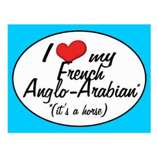 ¡Es un caballo! Amo mi Anglo-Árabe francés Postal