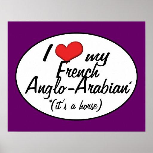 ¡Es un caballo! Amo mi Anglo-Árabe francés Posters