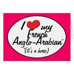 ¡Es un caballo! Amo mi Anglo-Árabe francés Tarjetas