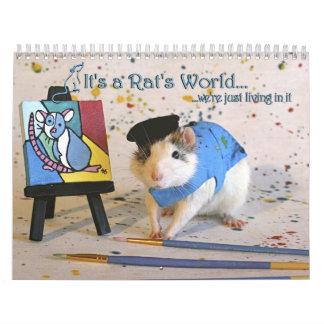 Es un calendario de mundo de la rata