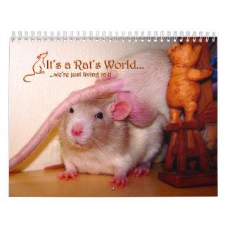 Es un calendario de mundo de la rata 2015