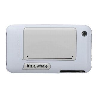Es un caso del iPhone de la ballena iPhone 3 Cobreturas