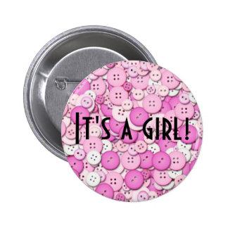 ¡Es un chica! Botón Pins