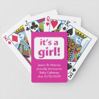 ¡Es un chica El género del bebé revela tarjetas Baraja