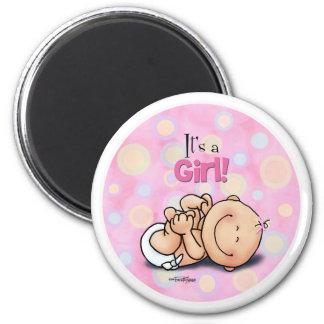 ¡Es un chica - enhorabuena del bebé! imán