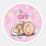 ¡Es un chica - enhorabuena del bebé! pegatinas