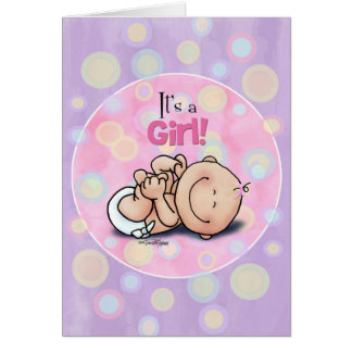 ¡Es un chica - enhorabuena del bebé! tarjeta