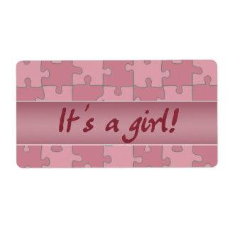 ¡Es un chica! Etiqueta De Envío