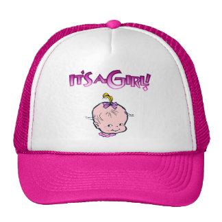 Es un chica (la cara del bebé) gorras