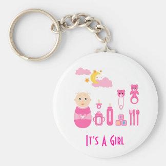 Es un chica: Llavero recién nacido del cuarto de n