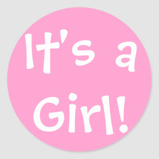 ¡Es un chica! Etiquetas Redondas