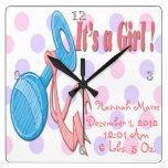 Es un chica - reloj de pared del recuerdo del traq