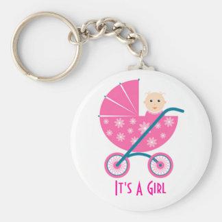 Es un chica: Reserva recién nacida del bebé el lla Llaveros Personalizados