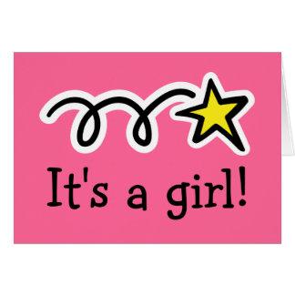 Es un chica - tarjeta de felicitación para el bebé