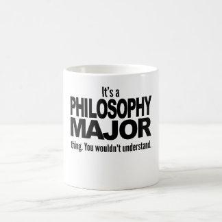 Es un comandante cosa de la filosofía taza básica blanca