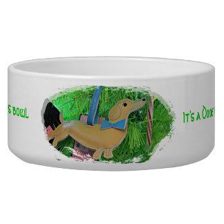 Es un cuenco del mascota del navidad del Dachshund Bol Para Perro