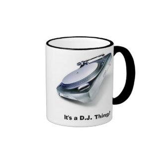 ¡Es un D.J. Thing! Taza De Dos Colores
