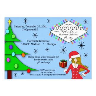 ¡Es un de moda y la fiesta de Navidad fabulosa inv Invitaciones Personales
