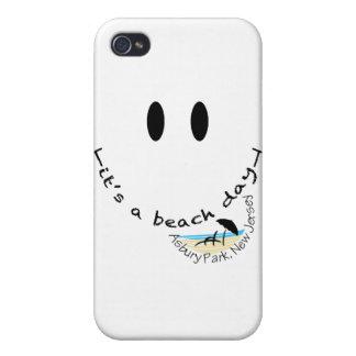 Es un día de la playa - parque de Asbury, New iPhone 4 Funda