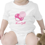 Es un diseño de la niña del chica trajes de bebé