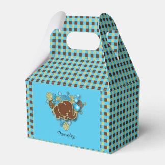 Es un elefante del bebé del muchacho el | el | cajas para detalles de boda