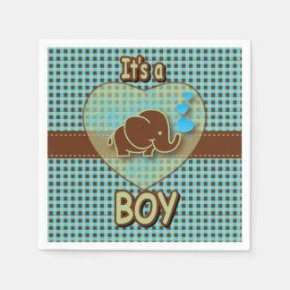 Es un elefante del bebé del muchacho el | el | servilletas desechables