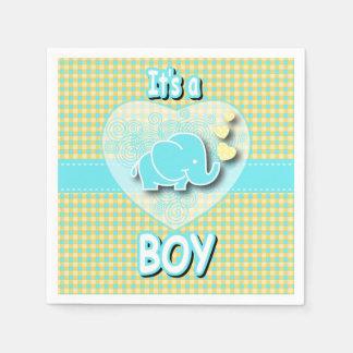 Es un elefante del bebé del muchacho el | servilleta de papel