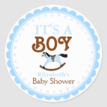 Es un favor de la ducha del Muchacho-Bebé Pegatinas Redondas