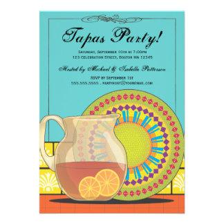 ¡Es un fiesta de los Tapas Invitación feliz de la