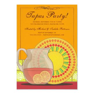 ¡Es un fiesta de los Tapas! Invitación feliz de la Invitación 12,7 X 17,8 Cm