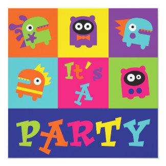 Es un fiesta del monstruo invitaciones personalizada