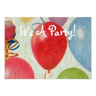 """¡Es un fiesta! Invitación 5"""" X 7"""""""