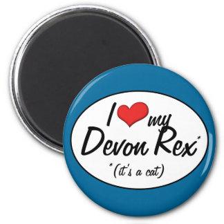 ¡Es un gato! Amo a mi Devon Rex Imán Redondo 5 Cm