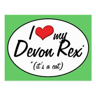 ¡Es un gato! Amo a mi Devon Rex Postal