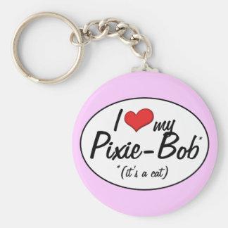 ¡Es un gato! Amo a mi Duendecillo-Bob Llaveros Personalizados