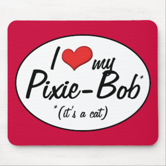 ¡Es un gato! Amo a mi Duendecillo-Bob Alfombrilla De Ratones